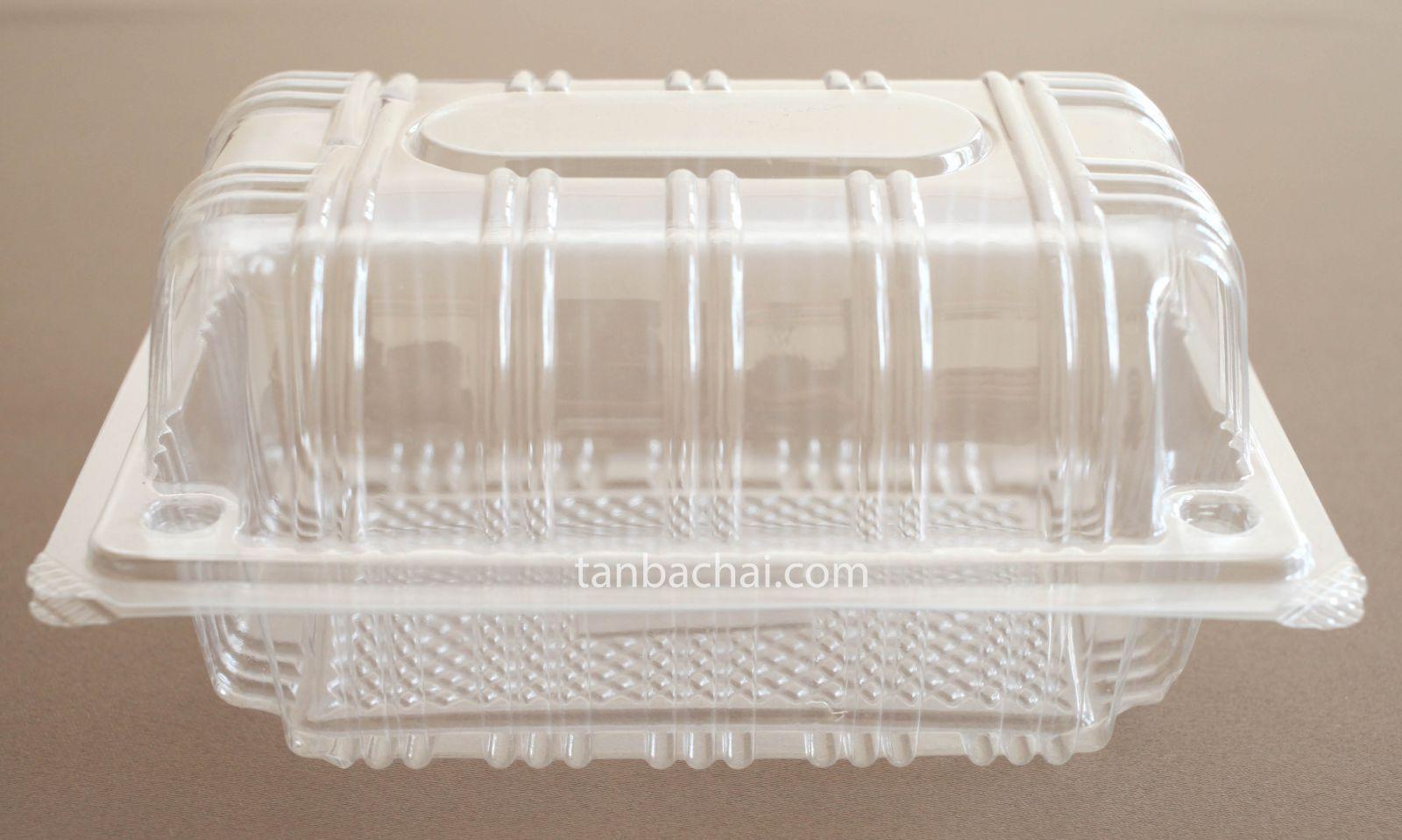 Hộp nhựa đựng bánh bông lan